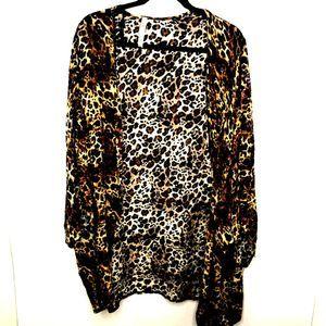 Forgotten Grace Women XL leopard Kimono